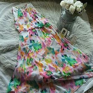Beautiful floral print high low dress